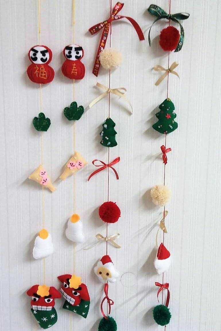クリスマス&正月のつるし飾り